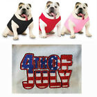 Embroider 4th of July Doggie Skin UNISEX T-Shirt Dog Tank Top TEE 3902 Size XS-M