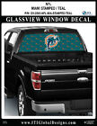 MIAMI DOLPHINS - STAMPED TEAL Window Wrap / Truck Car SUV Decal Sticker NFL