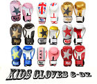 6 oZ Kids Boxing Gloves Punch Bag Sparring Training Mitts MMA  R A X