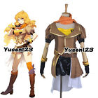 RWBY Yellow Trailer -- Yang Xiao Long Combat Cosplay Costume Outfit