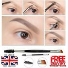 'Eyebrow Double Ended Flat Angled Eyeliner Eyeshadow Make Up Brow Mascara Brush