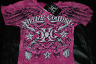 """NEW Xtreme Couture Pink """"Battle Babe"""" MMA Graphic T-shirt (Small, Medium)"""
