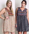 baby doll plus size dresses - Umgee Plus Size Western Baby Doll Tank Dress Tribal Sleeveless Shift WB5430