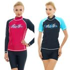 Women Rash Guard Top Ladies Swim Shirt Long Short Sleeve Sur