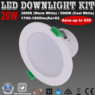 1/6X 20W SMD LED Downlights Kits Dimmable 150mm Cuts IC-F IP44 Warm/ Cool White