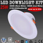 1/6X 25W LED Dimmable Recessed Downlight Kits Warm or Cool White Five Warranty