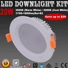 20W Warm/ Cool White Dimmable Recessed Ceiling LED Downlight Kit 157mm Cutout