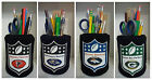 #1 set NFL Football Pencil Holder Cup Pen Holder Work Desk Kitchen Office Gift $12.95 USD on eBay