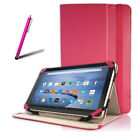 "E-Den® Superb Pink Glimmer Folio Cover Case with Stand fits 10""-10.2"" Tablet C62"