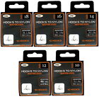 NGT Barbless Hooks To Nylon SIZES 8 10 12 14 16 18 Match Coarse Fishing Freepost