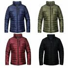New Mens Puffer Quilted Bubble Puffa Warm Thick  Zip Padded Coat Jacket Top