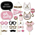 20pc Baby Shower Photo Booth Props Pink Boy 1st First Birthday Party Photography