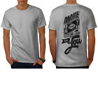 TShirts - Make Money Dollar Slogan Men Tshirt Back S5XL NEW Wellcoda