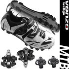 Venzo Mountain Bike Bicycle Cycling Shimano SPD Shoes + Sealed Pedals