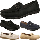 Womens Slip On Comfort Womens Flat Loafers Moccasins Faux Leather Shoes Sizes Uk