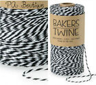 Tuxedo Black & White Duo 4-ply 100% Cotton Baker's Twine *Your Choice of Length*