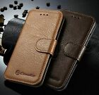 For iPhone 6 6S Genuine Leather Wallet Case Protective Folio Cover Card Holder