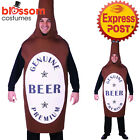 CSW50 Beer Bottle Costume Adult Mascot Costume Fancy Dress Up Funny Oktoberfest