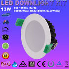 6X13W 90mm Cutout LED Downlight Kit Dimmable Warm/Cool White 5 Year Warranty SAA