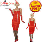 CA162 Red Long Flapper Women 1920s Roaring Dress Plus Costume Charleston Gatsby