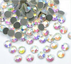 1440 pcs Iron-On Flat-Back Hot-Fix Seed Rhinestones Color & Size Multi Selection