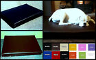 ZIPPY FAUX LEATHER DOG BED - WIPE CLEAN HOSE MATTRESS  LOOSE COVERS  TEN COLOURS