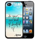 PERSONALIZED RUBBER CASE FOR iPHONE 7 6S 6 5S 5C SE PLUS BE BEAUTIFUL BEACH