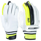 Kookaburra Fuse 100 Mens Kids Cricket Batting Gloves White/Black/Lime