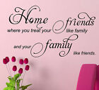 Home Friends Family Wall Quote WALL ART DECAL Wall Sticker HOME DECOR  S11