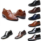Hot Men's Wedding Dress Pointed Oxfords Leather Shoes Casual Formal Size 6-12