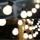 Solar String Light Bulb Family Party 8ft 10LED White / Warm White LED Lamp Beads