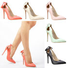 Womens ladies high stiletto heel tassel smart party casual evening court shoes