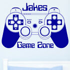 GAME CONTROLLER PAD Wall Art Sticker Personalised Boys Bedroom Games Room Decal