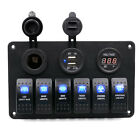 Car+Marine+Boat+6%2DGang+Waterproof+Circuit+Blue+LED+Rocker+Switch+Panel+Breaker