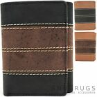 Mens / Gents Genuine Soft Leather Tri-Fold Wallet / Credit Card Holder
