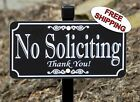 NO SOLICITING Lawn Sign - Permanently Laser Engraved - FREE SHIPPING