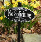 NO SOLICITING Garden/Lawn Sign - Permanently Laser Engraved - FREE SHIPPING