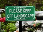 PLEASE KEEP OFF LANDSCAPE Lawn Sign - Laser Engraved - FREE SHIPPING