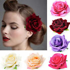 NEWLY Big Blooming Rose Flower Wedding Bridal Hair Clip headpiece Brooch Pin
