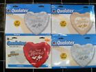 """36"""" Foil Heart Shape 3 Foot Just Married Wedding Balloon Gold Red Silver Lilac"""