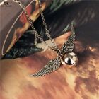 Harry Potter Golden Snitch Winged Quidditch Cup Pendant Necklace Fan Jewelry USA