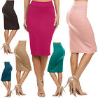 Women's Below the Knee Pencil Skirt for Office Wear - Made in USA - S M L XL