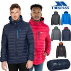 Trespass Digby Mens Down Jacket with Hood in Navy Black Red & Grey