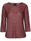 **TOPSHOP** BURGUNDY MESH DAISY EMBROIDERED LONG SLEEVE TOP -*NEW* SIZES 10 - 14