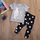 Newborn Baby Clothes Sets Boys Girls T shirt + Pants Kids Casual Outfits AU