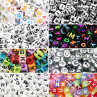 400 To 600 Alphabet Mixed Letters Cube Beads 6mm Flat Round 7mm Jewellery Making