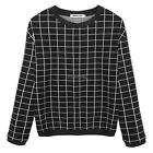 Women Long Sleeve Casual Loose T-shirt Tops Plaid Sweatshirt O-Neck Blouse New