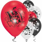 LITTLE PIRATE BALLOONS - Various amounts in Red & Black - CHILDREN'S PARTY