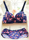Sweet Sexy Flowers Push-Up Padded Bras Underwire Bra Sets 32 34 36(AB) #9917