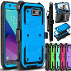 For Samsung Galaxy J3 Emerge/J3 2017 Hybrid Armor Case Rugged Impact Phone Cover